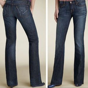 Citizens of Humanity   Low waist bootcut jeans.